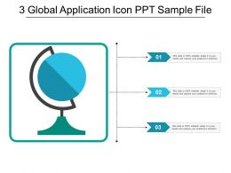 3 Global Application Icon Ppt Sample File