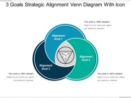 3 Goals Strategic Alignment Venn Diagram With Icon