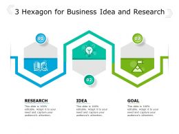 3 Hexagon For Business Idea And Research