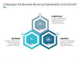3 Hexagon For Business Revenue Generation And Growth