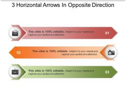 3 Horizontal Arrows In Opposite Direction