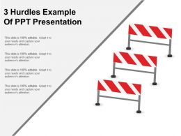 3 Hurdles Example Of Ppt Presentation