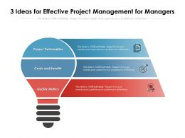 3 Ideas For Effective Project Management For Managers