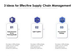 3 Ideas For Effective Supply Chain Management