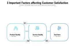 3 Important Factors Affecting Customer Satisfaction