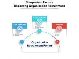 3 Important Factors Impacting Organization Recruitment