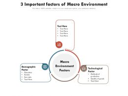3 Important Factors Of Macro Environment