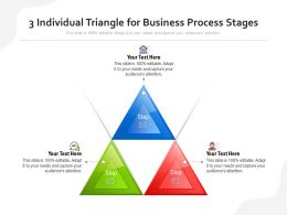 3 Individual Triangle For Business Process Stages