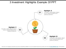 3 Investment Highlights Example Of Ppt