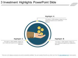3 Investment Highlights Powerpoint Slide
