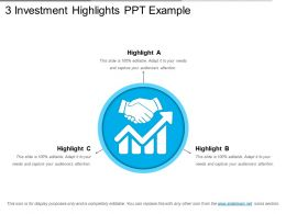 3 Investment Highlights Ppt Example