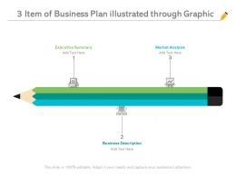 3 Item Of Business Plan Illustrated Through Graphic