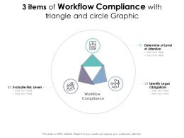 3 Items Of Workflow Compliance With Triangle And Circle Graphic