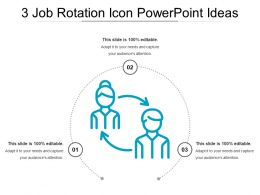 3 Job Rotation Icon Powerpoint Ideas