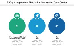 3 Key Components Physical Infrastructure Data Center Ppt Powerpoint Presentation Inspiration Model Cpb