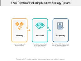 3 Key Criteria Of Evaluating Business Strategy Options