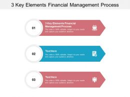 3 Key Elements Financial Management Process Ppt Powerpoint Presentation Objects Cpb