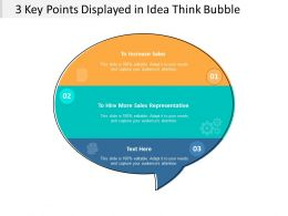 3 Key Points Displayed In Idea Think Bubble