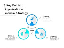 3 Key Points In Organizational Financial Strategy