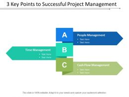 3 Key Points To Successful Project Management