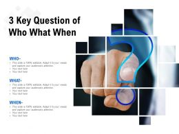 3 Key Question Of Who What When
