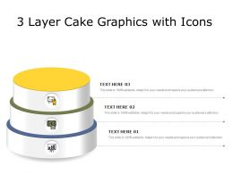 3 Layer Cake Graphics With Icons