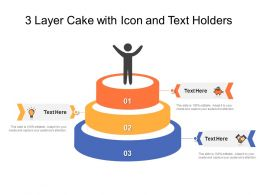 3 Layer Cake With Icon And Text Holders