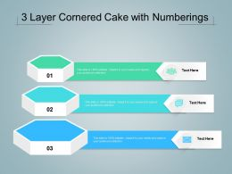 3 Layer Cornered Cake With Numberings