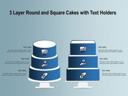 3 Layer Round And Square Cakes With Text Holders