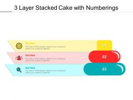 3 Layer Stacked Cake With Numberings