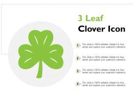 3 Leaf Clover Icon
