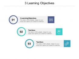 3 Learning Objectives Ppt Powerpoint Presentation Pictures Graphic Tips Cpb