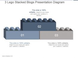 3 Lego Stacked Blogs Presentation Diagram