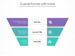 3 Level Funnel With Icons