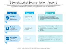 3 Level Market Segmentation Analysis