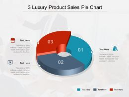 3 Luxury Product Sales Pie Chart