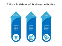 3 Main Divisions Of Business Activities