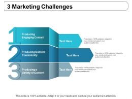 3 Marketing Challenges