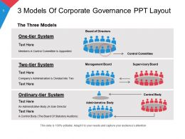 3 Models Of Corporate Governance Ppt Layout