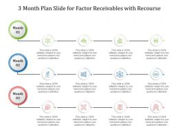 3 Month Plan Slide For Factor Receivables With Recourse Infographic Template