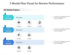 3 Month Plan Visual For Review Performance Infographic Template