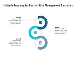 3 Month Roadmap For Pension Risk Management Strategies Infographic Template