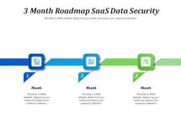 3 Month Roadmap SaaS Data Security Infographic Template