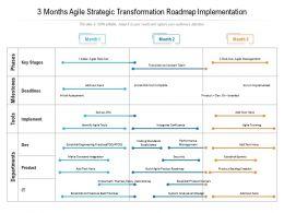 3 Months Agile Strategic Transformation Roadmap Implementation