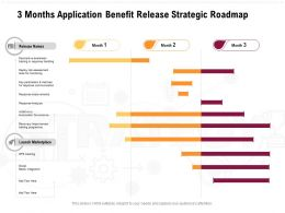 3 Months Application Benefit Release Strategic Roadmap