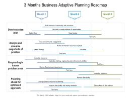 3 Months Business Adaptive Planning Roadmap