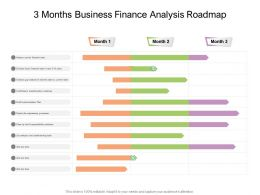 3 Months Business Finance Analysis Roadmap