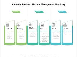 3 Months Business Finance Management Roadmap