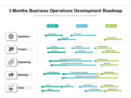3 Months Business Operations Development Roadmap