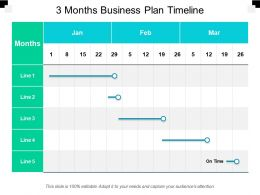 3 Months Business Plan Timeline